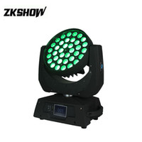 80% İndirim 36 * 10 W RGBW LED Işın Yakınlaştırma Yıkama Hareketli Kafa Işık 400 W DMX512 DJ Disko Parti Düğün Sahne Aydınlatma Projektör Pro Ses Oto