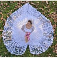 2018 Scoop Ausschnitt Sheer Long Sleeves Arabisch Dubai Full Lace Brautkleider Eine Linie Longheart Form Brautkleider Custom Made
