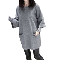 Autumn winter new large size women' s fat MM loose stitc...