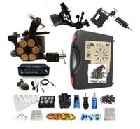 Máquina de tatuagem Kit de Tatuagem Profissional 2 máquina de rotativo liner shader 1 forro da máquina da liga shader de Alta Qualidade fonte de alimentação LED 2 x