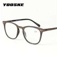 YOOSKE 플라스틱 모조 목재 곡물 독서 안경 남성 여성 노안경 디옵터 1.0 1.5 2.0 2.5 3.0 3.5 4.0 독서 용 안경