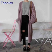 2018 new autumn sweater long sleeved knitted sweater coat fa...