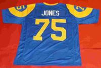 Barato retro 75 DAVID DEACON JONES bule mens MITCHELL NESS Jersey MIEMBRO FOCOSO Top de costura S-5XL, camisetas de fútbol 6XL funcionando