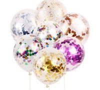 Fashion multicolore Les paillettes de latex remplies de nouveauté de ballon de ballon Clear Jouets Belles décorations de mariage de fête d'anniversaire