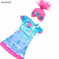 4-11 años Los bebés trolls se visten para el vestido de fiesta de verano, niños, niñas, ropa, vestidos, niños, vestido de niña, SAILEROAD
