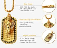 New year high quality hip hop 18k Gold Plated Angel army Nec...