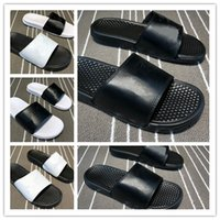 Wholesale black white Hydro beach slippers MEN sneakers casu...