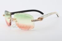 19 베스트 셀러 자연 믹스 팔 무늬 선글라스, 8300075-A, 프리미엄 럭셔리 다이아몬드 선글라스 크기 : 58-18-140 선글라스