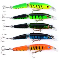 2018 Hot Model 10.5cm 9.6g Pesca Wobblers 5 Colori Fishing Lure Bait Swim Bait Crank Bait Doppia Sezione con 2x ganci