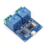 1pc LCUS-2 5V USB Relè Modulo CH340 USB Intelligent Control Switch 10A 250VAC 30VDC Over-Currentelay / Diodo Protezione a ruota libera