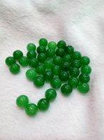 Perline sparse Xinjiang Hetian Jade 8mm spedizione gratuita x1