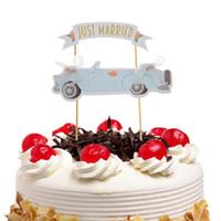 Только что женился торт флаги кекс торт Топпер Ботворезы дети День рождения свадьба свадебный обертка партия Baby Shower выпечки DIY Xmas