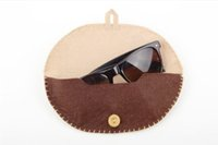 Vintage Handmade Eyeglasses Case Box Semi- circle Soft Wool F...