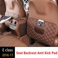 Mercedes Benz Yeni E sınıfı için Deri Koltuk arkalığı Karşıtı Kick Pad Araba Karşıtı Kirli Mat W213 e300l e200l e320l 2016-17