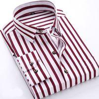 Moda primavera uomo casual camicie moda manica lunga marchio stampato pulsante-up formale business polka dot camicia floreale da uomo vendita calda