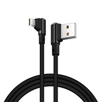 Micro USB Cable 90 Degree 1M Type- C Data Cable Metal Braided...