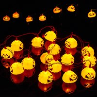 Batterie à piles 2.7m 16 leds 3D citrouille LED Fée String Lights Halloween Noël vacances Jardin Décoration Lanternes Lights