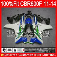 Тело впрыски для HONDA CBR600 F4i CBR 600 F 2011 2012 2013 2014 115HM.58 в продаже синий CBR600F4i CBR600 F 600F CBR600F 11 12 13 14 обтекатель