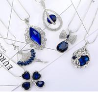 Nuovo argento maglione catena con strass pendente collana all'ingrosso gioielli da sposa gufo bling austriaco collana di moda coreana di cristallo dhl gratis