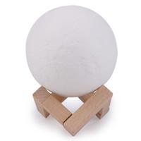 3D Imprimer Lune lampe rechargeable Veilleuse 3 changement de couleur tactile Commutateur Chambre lunaire Lampe Lune 3D Home Décor cadeau créatif