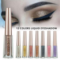 HANDAIYAN 12 color Liquid Eyeshadow Glittering Shimmer Makeu...