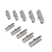 50PCS 5 Größen DIY Zubehör Erkenntnisse Chain Cords Clip Silber Farbe Edelstahl Verschluss Quetschperlen Ende Verschluss für Schmuck machen