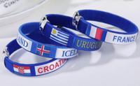 Braccialetti per la bandiera della Coppa del Mondo 2018, Polsini spagnoli, braccialetti, forniture fan fanelastiche, regali per attività della Compagnia della moda, regali per la catena della mano delle donne degli uomini
