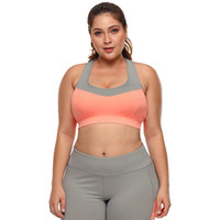 5c8b6d7f24 Large Big Plus Size Fitness Top Female Sport Brassiere Push Up Piping Trim  Padded Women Running Yoga Workout Sports Bra 2018