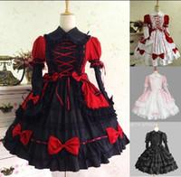 Themenkostüm Prinzessin Cosplay Kostüme für Mädchen Frauen Sommerkleid Lolita mittelalterlich Gothic Royal Prom Formal