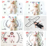 Designer Brand Recording Newborn Growth Baby Photography Bac...