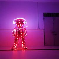 DX004 Bunte LED Luminous Kostüme Ballroom Dance RGB Licht Puppe Laufsteg Party Bar Leistung trägt kleiden DJ Bühnenshow Anzug Leistung