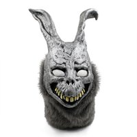 Máscara de Halloween Donnie Darko Coelho Horror Retrato Animal Máscaras Partido Cosplay Assustador Animal Full Head Mask Máscara Facial Masquerade