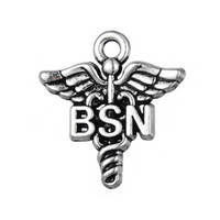Alloy Caduceus Medical Symbol Charms BSN Vintage Pendant Jew...