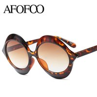 AFOFOO Design de Moda Rodada Óculos De Sol Novo Estilo Sexo Mulheres Óculos  de Sol Do 5e4de5525f