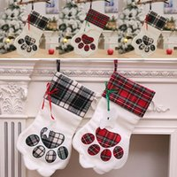 Wholesale 1 PCS Claw Plaid Christmas Gift Bag Candy Bag Paw ...
