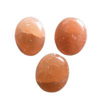 """Dingsheng Holiday Gift 2 """"Natürliche orange Selenite Palm Steine Kristall Sorge Quarz Ovale Seife Kugel Massage Heilung Reiki Chakra Frauenesien Minerale Exemplare"""