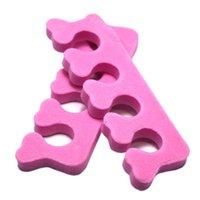 Groothandel NIEUWE LOT VAN 100 STKS Soft Foam Teen Finger Separator Tool voor Nail Art Polish Care Pedicure