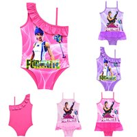 Game Fortnite printing children Swimwear 2018 summer One- Pie...