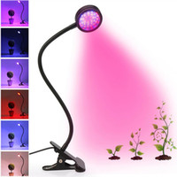 6W LED Grow Lights, Office, Home Indoor 44 LED Piante Grow Lampada con collo di cigno flessibile a 360 ° / Clip in metallo per Bonsai, vaso di piante, coltura idroponica