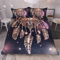 Eye Dreamcatcher Bedding Set King Size Luxury Galaxy Golden ...