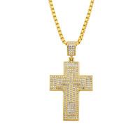 تخصيص يسوع المسيحية الصليب قلادة النساء الرجال الهيب هوب قلادة قلادة مجوهرات 2018 الأزياء قلادة طويلة الملحقات