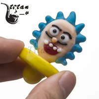 Rick and Morty Glass Carb Cap Cartoon Style OD=27mm L=45mm F...