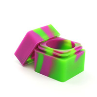 MOQ = 10 peça amostra venda quente frascos de silicone dab silicone antiaderente recipiente 30mmX30mm