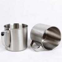 250 ml en acier inoxydable café thé tasse tasse camping voyage diamètre 7 cm bière lait expresso isolé incassable enfants tasse WX9-303
