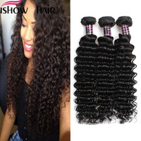 Peruvian Deep Wave 3Pcs Ishow 100% Unprocessed Human Hair Or...