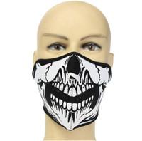 Велосипед череп половина маски дышащий гримаса половина Маска щит маска для езды на велосипеде альпинизм лыжи спорт на открытом воздухе