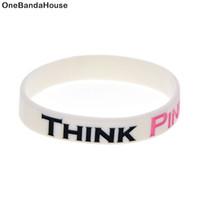 1 pc consciência de câncer pensa pulseira de silicone rosa Que melhor maneira de transportar a mensagem do que com um lembrete diário