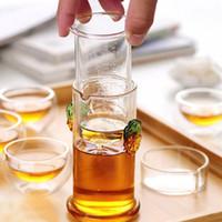 Puer Çiçek Çay Sıcak Satış için Cam Çaydanlık ile Filtre Temizle Isıya Dayanıklı Borosilikat Blooming Çaydanlık Isıya dayanıklı çaydanlıklar