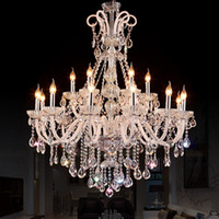 New Style LED Crystal Chandelier Lighting Fixture Luxury Lar...