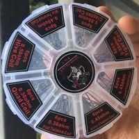 Iblis Katil Prebuilt Bobinleri 8 in 1 Kiti Önceden inşa Karışık Twisted / Clapton / Hive / Alien Clapton / Sigortalı Clapton / Kaplan / Dörtlü Bobin 48 adet RBA Atomizer
